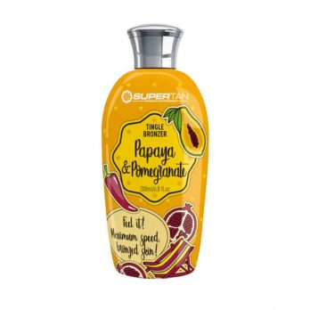 Papaya pomegranate Tingle och bronzers lotion - SuperTan