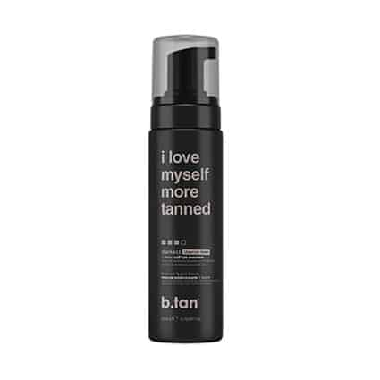 I Love Myself More Tanned 1 hour self tan mousse darkest - b.tan