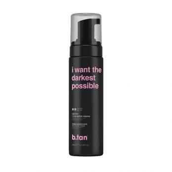 I Want The Darkest Tan Possible 1 hour Self Tan mousse darker - b.tan
