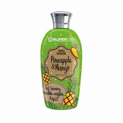 Pineapple & mango triple bronzer tanning lotion - SuperTan