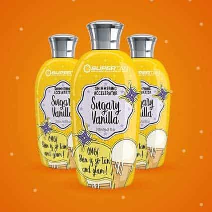 Sugary Vanilla accelerator tanning lotion - SuperTan