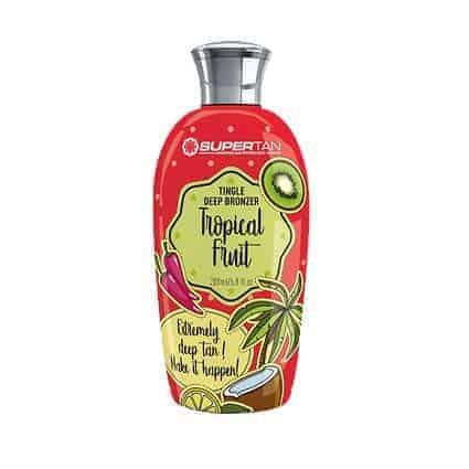 Tropical fruit Tingle & deep bronzers tanning lotion - SuperTan