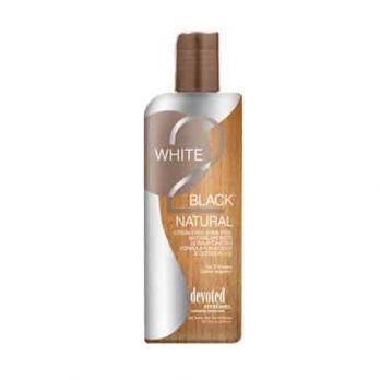 White 2 Black Natural tanning lotion – Devoted Creations