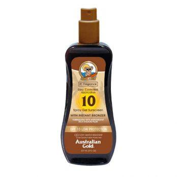 Spray Gel SPF 10 with instant bronzer - Australian Gold
