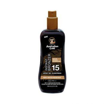 Spray Gel SPF 15 with instant bronzer - Australian Gold 100ml