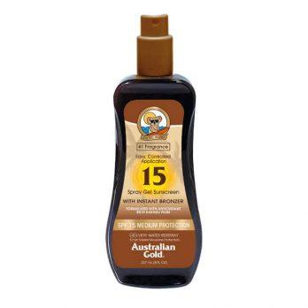 Spray Gel SPF 15 with instant bronzer - Australian Gold