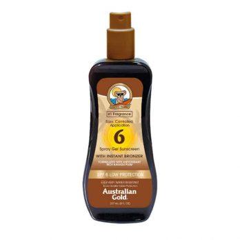 Spray Gel SPF 6 with instant bronzer - Australian Gold