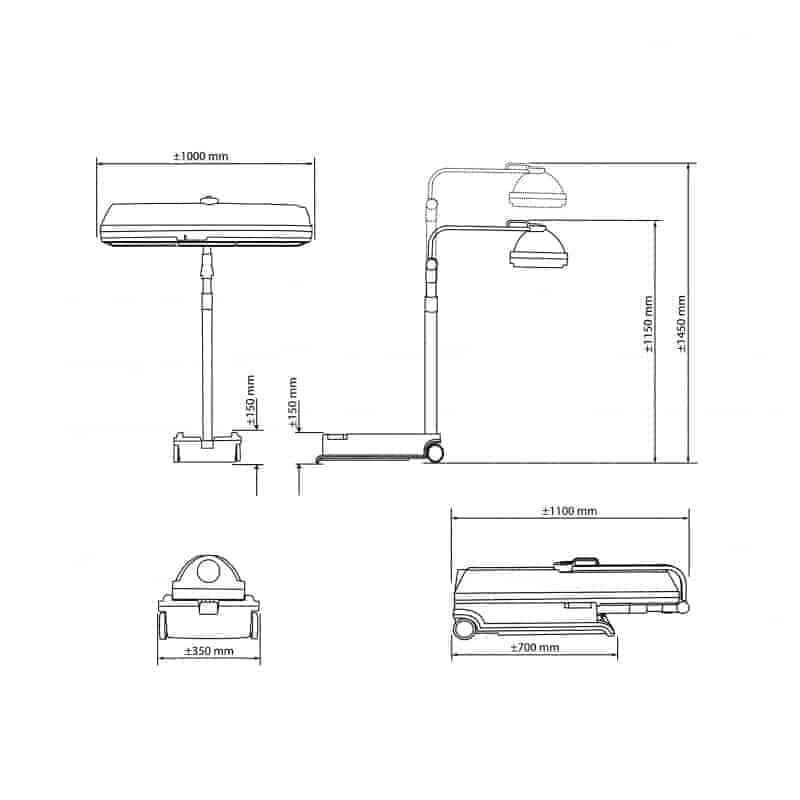 Hapro Compact helkroppssolarium Mobile Sun HP 8540